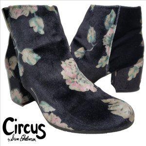 CIRCUS BY SAM EDELMAN Vikki Floral Velvet Boots